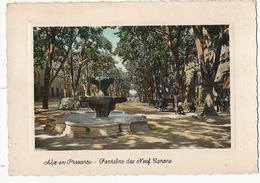 Aix En Provence Fontaine Neuf Canons Autos Flamme 1958 Format 10/15 Colorisée - Aix En Provence