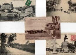 LOT DE 10 C.P.A. FRANCAISES TOUTES ANIMEES ET SCANEES - Cartoline