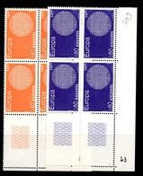 Andorre Europa 1970 En Blocs De 4 Neufs ** MNH. TB. A Saisir! - Ungebraucht