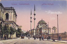 TURQUIE EN 1918,TURKEY,TURKIYE,Constantinople,KONSTANTINOUPOLIS,istanbul,Tophané,tram,mosquée - Turquie