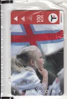FAROE ISL. - Girl, Faroese Flag(34), Tirage 10000, 12/00, Mint - Faroe Islands