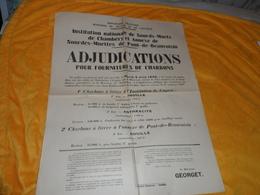 AFFICHE ANCIENNE DE 1928. / ADJUDICATIONS POUR FOURNITURES DE CHARBONS. / COGNIN LE 18 MAI 1928. / MINISTERE DU TRAVAIL - Afiches