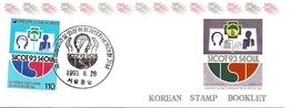 KOREA SOUTH, 1993, Booklet Philatelic Center 128, World Congress Of Sicot - Corea Del Sud