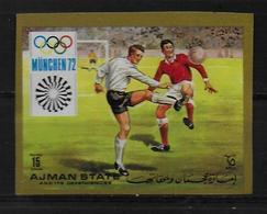AJMAN     N°  * *  NON DENTELE   Jo 1972  Football Soccer Fussball - Calcio