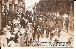 AUMALE. 4° SALON De La CARTE  POSTALE .1984 - Bourses & Salons De Collections