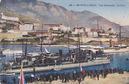 CARTE POSTALE ANCIENNE,MONACO,MONTE CARLO EN 1914,le Port,bateau,drapeau - Monaco