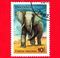 Nuovo - MH - TANZANIA - 1991 - Animali - Elefanti - African Elephant (Loxodonta Africana) - 10 - Tanzania (1964-...)
