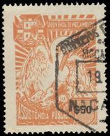 Mozambique Scott #RA-55, 50¢ Orange (1954) White Pelican, Used - Mozambique