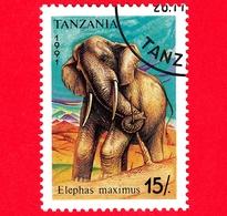 Nuovo - MH - TANZANIA - 1991 - Animali - Elefanti - Asian Elephant (Elephas Maximus) - 15 - Tanzania (1964-...)