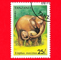 Nuovo - MH - TANZANIA - 1991 - Animali - Elefanti - Asian Elephant (Elephas Maximus) - 25 - Tanzania (1964-...)