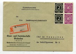 All.Besetzung / 1947 / Reco-Bf. MiF Ex Kreiensen (10337) - American,British And Russian Zone