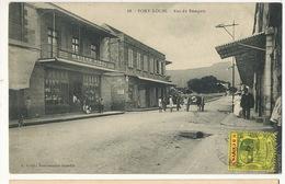 68 Port Louis Rue Du Rempart Edit E. Vidal. Maison De L' Editeur En Beau Plan . Timbrée Non Voyagé - Maurice