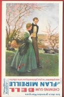 Buvard Années 50 - CHEWING GUM BELL & FLAN MIREILLE 3e Série N° 40 - Imp B.SIRVEN - COUPLE ROMANTIQUE Aux COQUELICOTS - Food