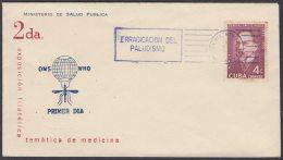 1962-CE-21 CUBA 1962 SPECIAL BLUE CANCEL. EXPO FILATELICA SALUD PUBLICA MEDICINE. PALUDISMO MALARIA. - Cuba