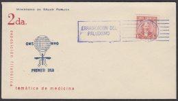 1962-CE-22 CUBA 1962 SPECIAL BLUE CANCEL. EXPO FILATELICA SALUD PUBLICA MEDICINE. PALUDISMO MALARIA. - Cuba