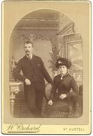 Cabinet Photo – Victorian Man & Woman – Hat, Fashion C1880 – Orchard St Austell - Fotos