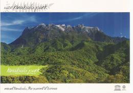 Mount Kinabalu, 4095 M. Sabah. The Summit Of Borneo, Carte Postale Neuve, Non Circulée - Alpinisme