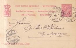 Luxemburgo  Año 1902  Entero Postal   Circulado Matasellos  Luxemburgo Ville, Eschwege - Stamped Stationery
