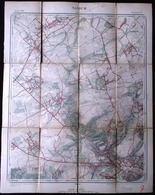 1890 GRANDE CARTE ETAT MAJOR DE NAMUR - De Stevenart à Petit Sart Et De Suarlée à Namur - Namur