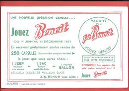 Buvard Années 50 - J.A. BENOIT - Nouvelle Opération CAPSULES 1957  - Papeterie Du Midi à Marseille - Produits Laitiers