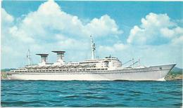 X2729 Turbonave Michelangelo - Navi Ships Bateaux - Linea Espresso Mediterraneo - Nord America / Non Viaggiata - Dampfer