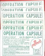 6 Buvards Identiques  Années 50 - J.A. BENOIT - OPERATION CAPSULES  - Papeterie Du Midi à Marseille - Produits Laitiers