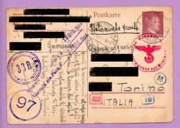 Storia Postale -  Franchigia Spedita Dalla Germania Per L'Italia 1944 (SP2) - 1900-44 Vittorio Emanuele III