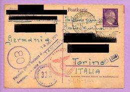 Storia Postale -  Franchigia Dalla Germania Per L'Italia 1944 (SP3) - 1900-44 Vittorio Emanuele III