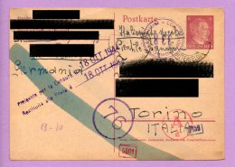 Storia Postale -  Franchigia Dalla Germania Per L'Italia 1944 (SP4) - 1900-44 Victor Emmanuel III