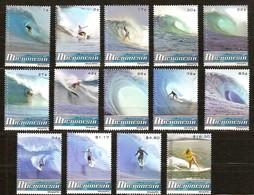 Micronesie Micronesia 2009 Yvertn° 1645-1654 Et 1659-1662 *** MNH Cote 75 Euro Sport Surf Dans Les Vagues - Micronésie