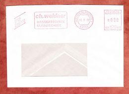 Briefdrucksache, Neopost H01-1511, Weidner, 80 Pfg, Herten 1990 (52511) - [7] Repubblica Federale