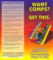 Boardwalk Casino - Las Vegas, NV - Paper Player Card Rules / Brochure - Advertising