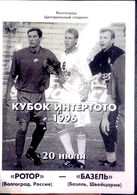 Football Program -   F.C.  ROTOR  Volgograd  V  F.C.  BASEL ,  EURO-CUP, 1996. - Books