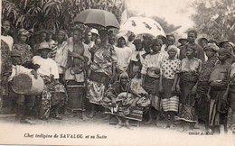 84Vn  Dahomey Chef Indigéne De Savalou Et Sa Suite - Dahomey