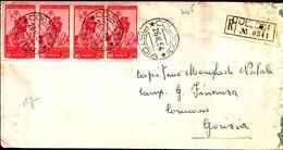 84705)  Lettera FDC Con Serie Completa Delle Onoranze A Carlo Lorenzini (Collodi)- 26 Ottobre 1954 Striscia Di 4 Valori - F.D.C.