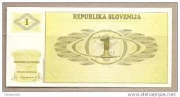 Slovenia - Banconota Non Circolata FdS Da 1 Tallero P-1a - 1990 - Slovenia