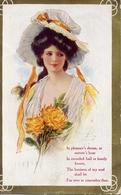 Donnina - Con Cappello E Fiori - Formato Piccolo Viaggiata – Ad - Women