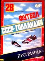 Football Program -   U S S R  V  NEDERLAND , 1990 ,  Friendly. - Books