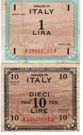 ITALIA 1,10 LIRE -1943 P-M10,M13 - [ 3] Military Issues