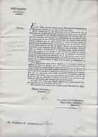 1836 , CIRCULAR , DIPUTACIÓN PROVINCIAL , DIEZMO SOBRE PATATAS Y FRUTOS EXTRAÑOS INDIGENADOS - Documentos Históricos