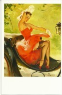 Pin Ups Of GIL ELVGREN Postcard RPPC - (229) Years 1940's,1950's And 1960's - Size 15x10 Cm.aprox. - Pin-Ups