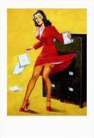 Pin Ups Of AL BUELL Postcard RPPC - (9) - A Tight Draw,1944  - Size 15x10 Cm.aprox. - Pin-Ups
