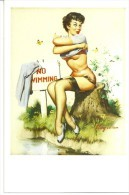 Pin Ups Of GIL ELVGREN Postcard RPPC - (221) Years 1940's,1950's And 1960's - Size 15x10 Cm.aprox. - Pin-Ups