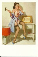 Pin Ups Of GIL ELVGREN Postcard RPPC - (185) Wrong Nail, 1964 - Size 15x10 Cm.aprox. - Pin-Ups