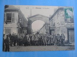 Carte Postale Chauny La Soudière Usine - Industrie