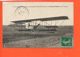 Avion - Le Lieutenant Vaudein Commandant D'Escadrille Aérienne Du Camp De Mailly Sur M. Farman - 1914-1918: 1ère Guerre