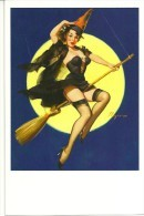 Pin Ups Of GIL ELVGREN Postcard RPPC - (130) Riding High, 1958 - Size 15x10 Cm.aprox. - Pin-Ups