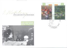 Slovenia Slovenie Slowenien 1996 Michel 142-143 - Europa CEPT - Famous Women - Ivana Kobilca  Mint FDC - Slowenien