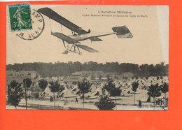 Avion - L'aviation Militaire - Biplan Bréguet évoluant Au-dessus Du Camp De Mailly - 1914-1918: 1ère Guerre