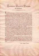 1835 , 1ª GUERRA CARLISTA , COMANDANCIA GENERAL DEL PRINCIPADO , ZUMALACARREGUI EN LOS ALTOS DE URMASTEGUI - Documentos Históricos